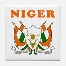 Niger Coat Of Arms Designs Tile Coaster