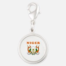 Niger Coat Of Arms Designs Silver Round Charm