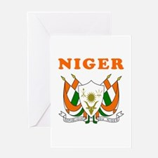 Niger Coat Of Arms Designs Greeting Card