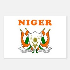 Niger Coat Of Arms Designs Postcards (Package of 8