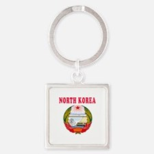 North Korea Coat Of Arms Designs Square Keychain
