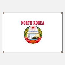 North Korea Coat Of Arms Designs Banner