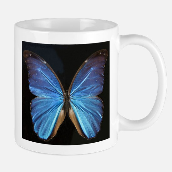 Elegant Blue Butterfly Mug