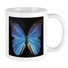 Elegant Blue Butterfly Small Mugs