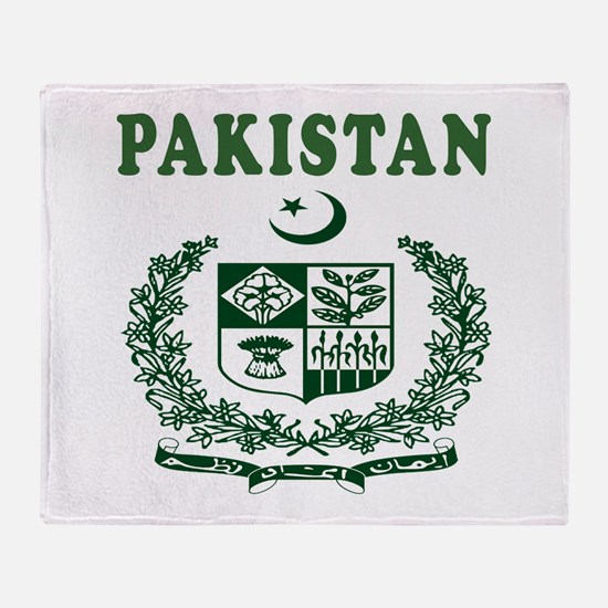 Pakistan Coat Of Arms Designs Throw Blanket