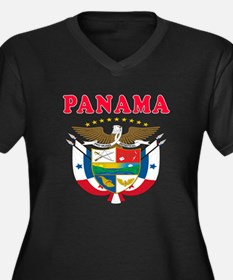 Panama Coat Of Arms Designs Women's Plus Size V-Ne