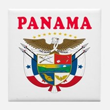 Panama Coat Of Arms Designs Tile Coaster