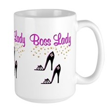 #1 BOSS LADY Ceramic Mugs