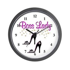 #1 BOSS LADY Wall Clock