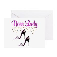 #1 BOSS LADY Greeting Card