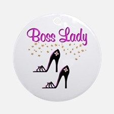 #1 BOSS LADY Ornament (Round)