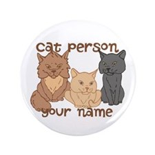 "Personalized Cat Person 3.5"" Button (100 pack)"
