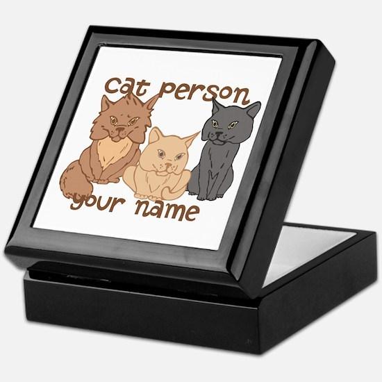 Personalized Cat Person Keepsake Box