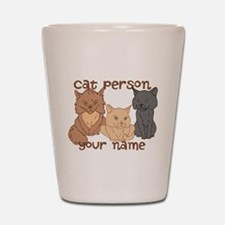 Personalized Cat Person Shot Glass