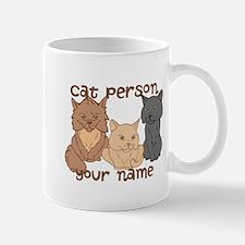 Personalized Cat Person Mug