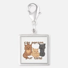 Personalized Cat Person Charms