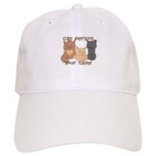 Personalized Cat Person Baseball Cap