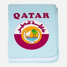 Qatar Coat Of Arms Designs baby blanket