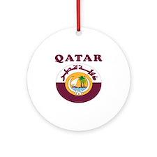Qatar Coat Of Arms Designs Ornament (Round)