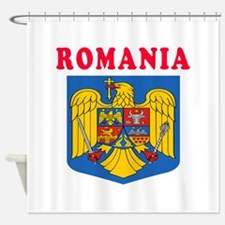 Romania Coat Of Arms Designs Shower Curtain