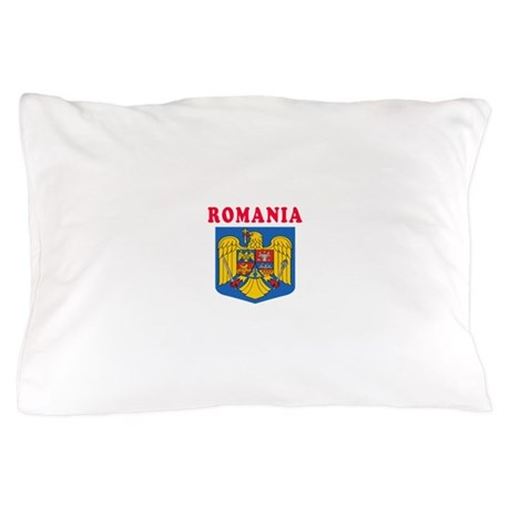 Romania Coat Of Arms Designs Pillow Case