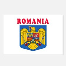 Romania Coat Of Arms Designs Postcards (Package of