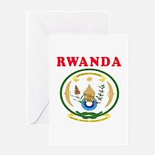 Rwanda Coat Of Arms Designs Greeting Card
