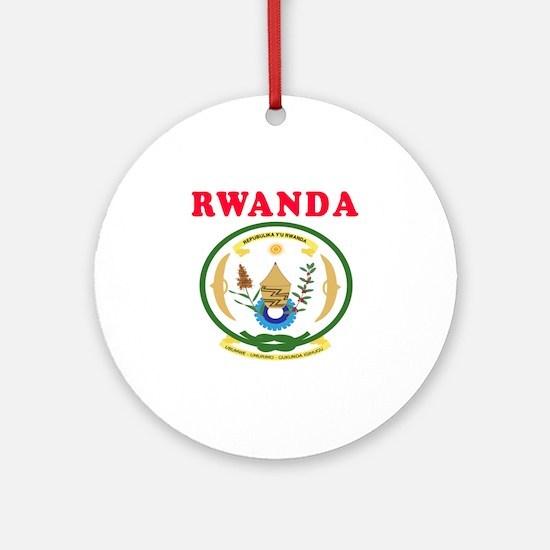 Rwanda Coat Of Arms Designs Ornament (Round)