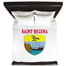 Saint Helena Coat Of Arms Designs King Duvet