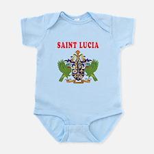 Saint Lucia Coat Of Arms Designs Infant Bodysuit