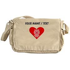 Cartoon Pig Heart Messenger Bag
