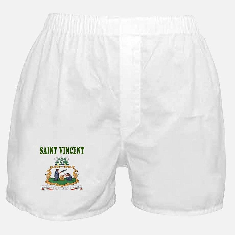 Saint Vincent Coat Of Arms Designs Boxer Shorts