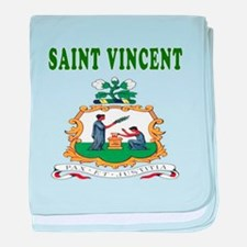 Saint Vincent Coat Of Arms Designs baby blanket