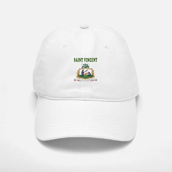 Saint Vincent Coat Of Arms Designs Baseball Baseball Cap