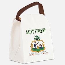 Saint Vincent Coat Of Arms Designs Canvas Lunch Ba