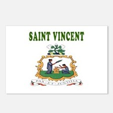 Saint Vincent Coat Of Arms Designs Postcards (Pack
