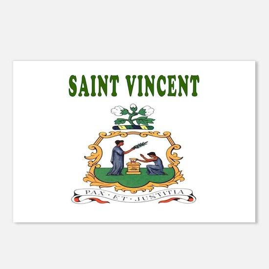 Saint Vincent Coat Of Arms Designs Postcards (Pack