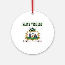 Saint Vincent Coat Of Arms Designs Ornament (Round