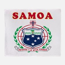 Samoa Coat Of Arms Designs Throw Blanket