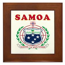 Samoa Coat Of Arms Designs Framed Tile