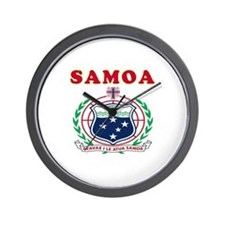 Samoa Coat Of Arms Designs Wall Clock