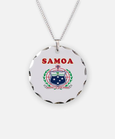 Samoa Coat Of Arms Designs Necklace