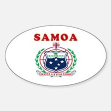 Samoa Coat Of Arms Designs Sticker (Oval)