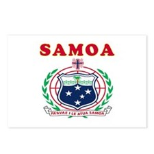 Samoa Coat Of Arms Designs Postcards (Package of 8