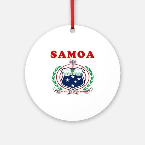 Samoa Coat Of Arms Designs Ornament (Round)