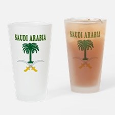 Saudi Arabia Coat Of Arms Designs Drinking Glass