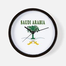 Saudi Arabia Coat Of Arms Designs Wall Clock