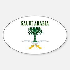 Saudi Arabia Coat Of Arms Designs Sticker (Oval)