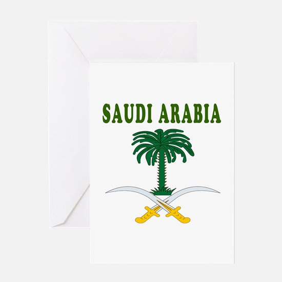 Saudi Arabia Coat Of Arms Designs Greeting Card