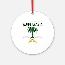 Saudi Arabia Coat Of Arms Designs Ornament (Round)